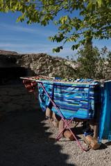 Serviettes de plage étendues au soleil