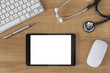 Doctors Desk with tablet computer