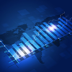 Finance Diagram Blue Background