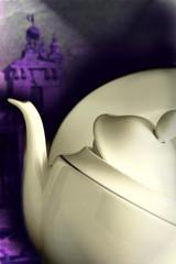 teiera di porcellana