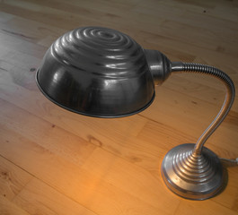 Small lamp on a floor