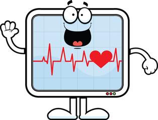 Cartoon Heart Monitor Happy