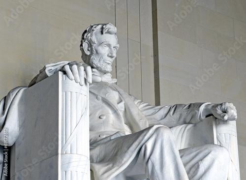 Fotobehang Historisch mon. Abraham Lincoln Statue, Lincoln Memorial, Washington DC