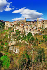 Sorano - medieval town of Tuscany