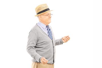 Senior man standing