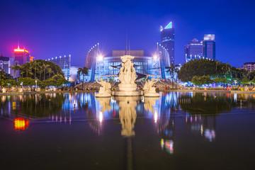 Fuzhou, China Cityscape at Wuyi Square