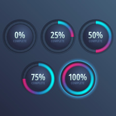 Vector progress bars for website and applications