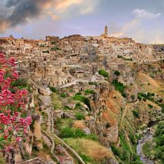 ancient Matera, cave city. Italy