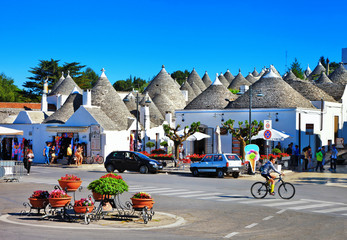 Alberobello village-unique trulli houses, Puglia, Italy