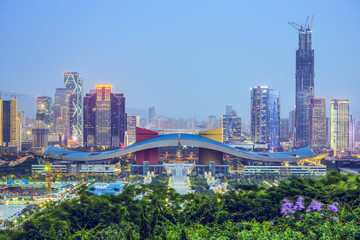 Shenzhen, China Civic Center Skyline