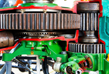 The mechanism of the motor gear