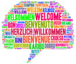 canvas print picture - Willkommen Tag Cloud