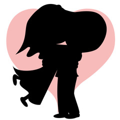 Hug collection - Bride and bridegroom (silhouette).