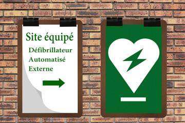 Défibrillateur  Externe Automatisé - Site équipé