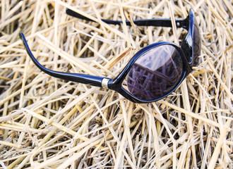 солнцезащитные очки в стогу сена