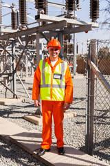 senior technician standing in power plant