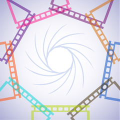 abstract pattern from film frames