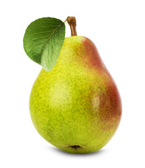 juicy pear isolated on the white background