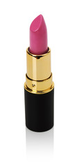 pink lipstick isolated on the white background