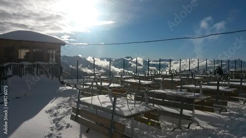 canvas print picture Sonnenterrasse Alpen