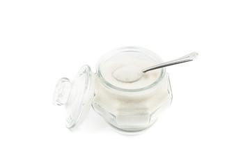 sugar  in glass jar
