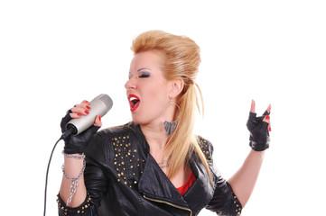 rocker girl singing