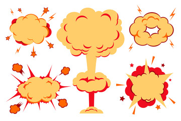 Bombs And Blast Set. Vector illustration