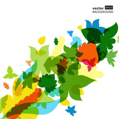 Colorful autumn leaves background. Vector illustration