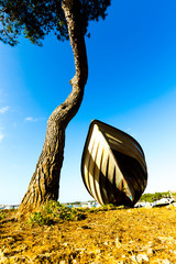 Boat under the tree