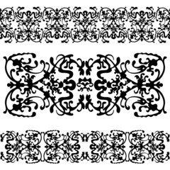 abstract pattern swirling decorative elements