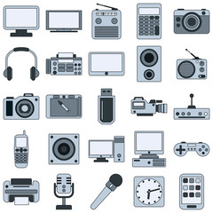 Modern electronic vector icons