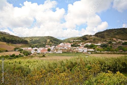 Fotobehang Vuurtoren / Mill Bordeira - Ancient portuguese village, Algarve countryside