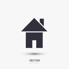 Vector modern real estate icon on white.