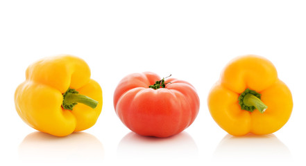 Sweet pepper and tomato