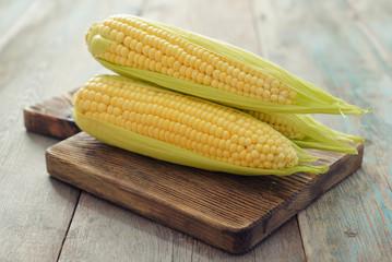 Raw corn cobs