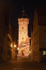 Klingentorturm in Rothenburg in Abendstimmung