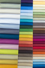 Color swatches of colorful fabric
