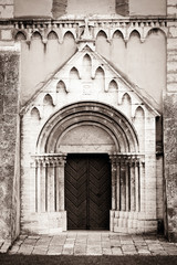 Portal to the Cathedral - sepia tone image