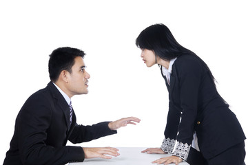 Businesspeople in Business Fighting