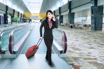 Businesswoman at the international airport 1