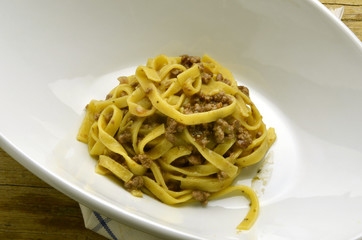 Tagliatelle al ragù Cucina italiana Тальятелле Expo Milano 2015