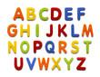 Leinwanddruck Bild - Magnet Alphabet