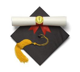 Grad Hat Torch Scroll