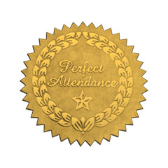 Perfect Attendance Seal