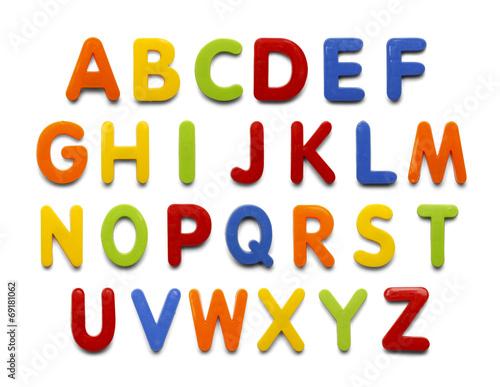 Leinwanddruck Bild Magnet Alphabet