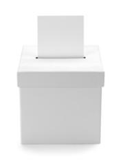 White Ballot Box