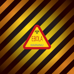 Ebola warning sign, Vector, EPS10