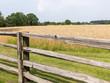 Farmland with rustic fence