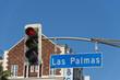 LA Hollywood Las Palmas street sign