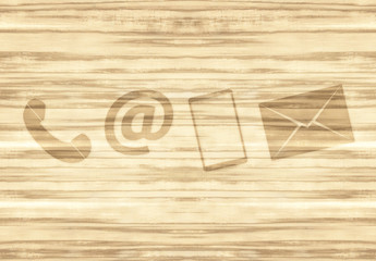 Contact Wood Background